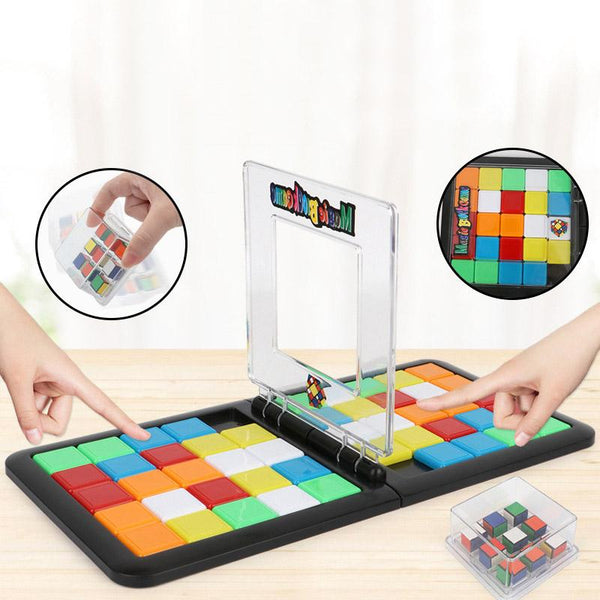 Rubik's Race Game Face-To-Face Board Game On Rubik's Cube Board Killing Time Gifts Developmental Games