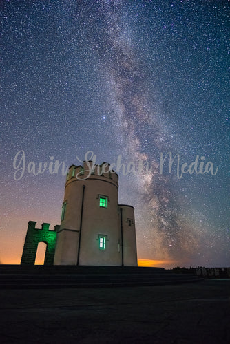 The Milky Way over Moher