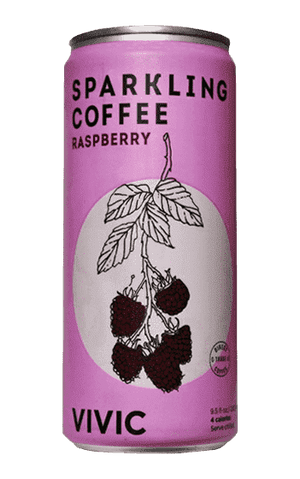 Raspberry Sparkling Coffee, 6-pack