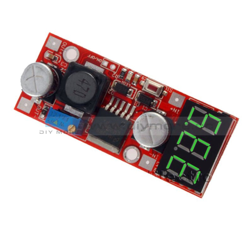Lm2596 Dc Adjustable Buck Converter Voltage Regulator With Voltmeter 5V 12V 24V Green Step Down