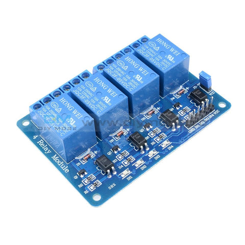 5V Four 4 Channel Relay Module With Optocoupler For Pic Avr Dsp Arm Arduino 8051 4-Channel Delay