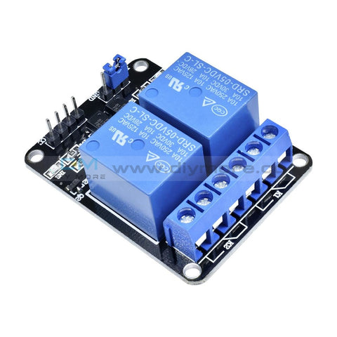 5V Two 2 Channel Relay Module +Optocoupler For Pic Avr Dsp Arm Arduino 2-Channel Delay