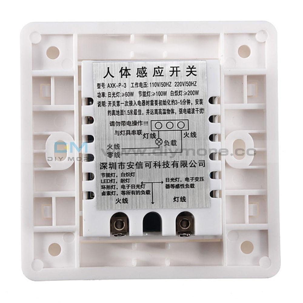 Ac 110V 220V Led Pir Motion Sensor Switch Ir Infrared Human Induction Detect Indoor Outdoor On Off