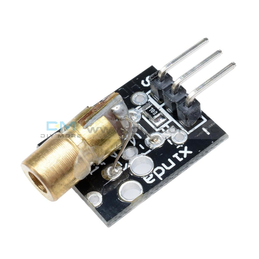Laser Sensor Module 650Nm 6Mm Red Dot Diode Copper Head For Arduino