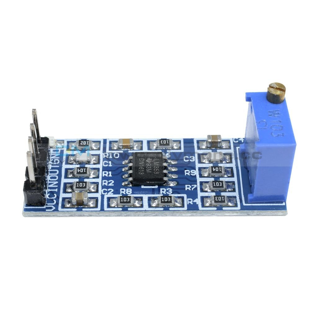 Lm358 100 Times Gain Signal Amplification Amplifier Operational Module Board