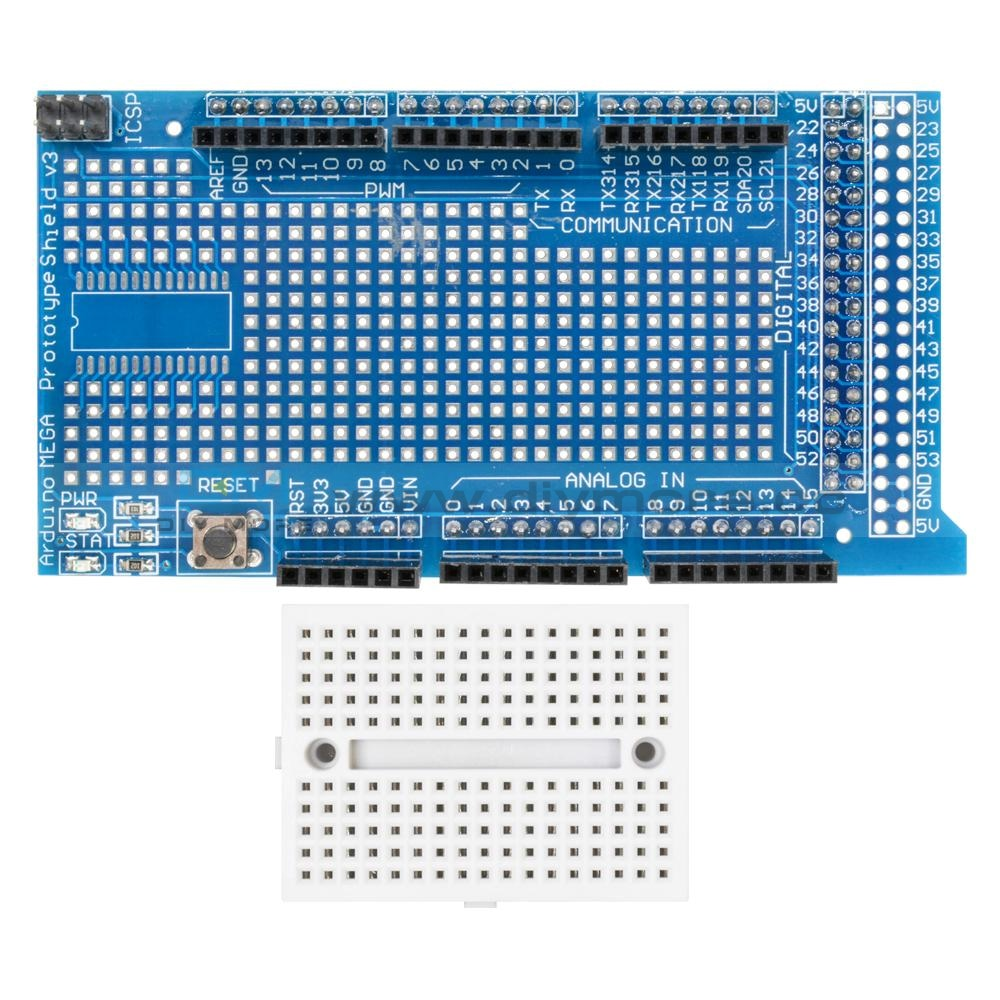 Arduino Uno 2011 Mega 2560 Prototype Shield Protoshield V3 With Min Breadboard 170 Adapter Module