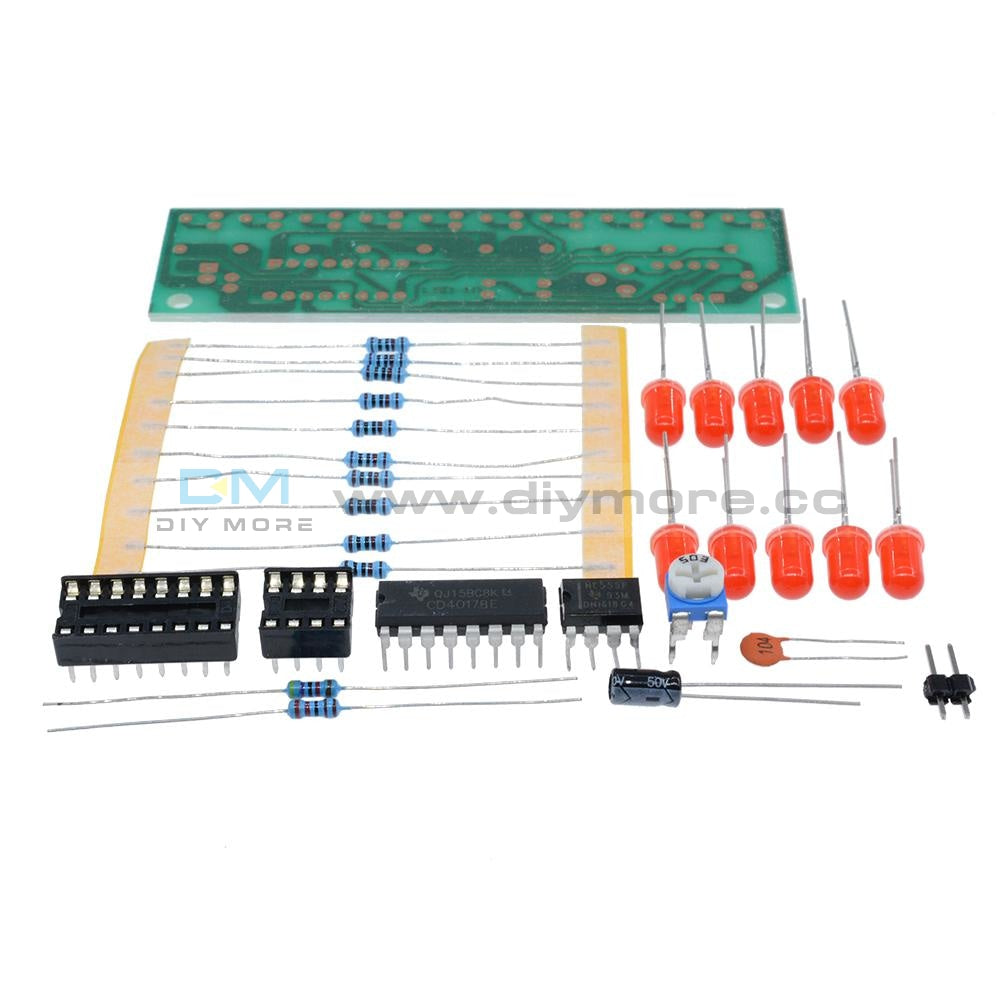 Ne555+Cd4017 Led Light Water Diy Kits Electronic Suite Lamp Module Red Funny