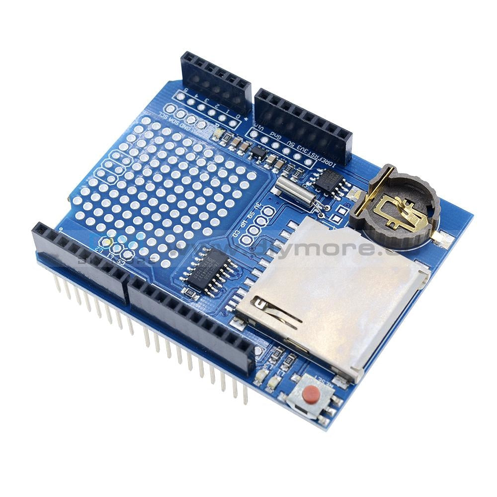 Data Logger Module Logging Shield Recorder Ds1307 For Arduino Uno Sd Card Expansion