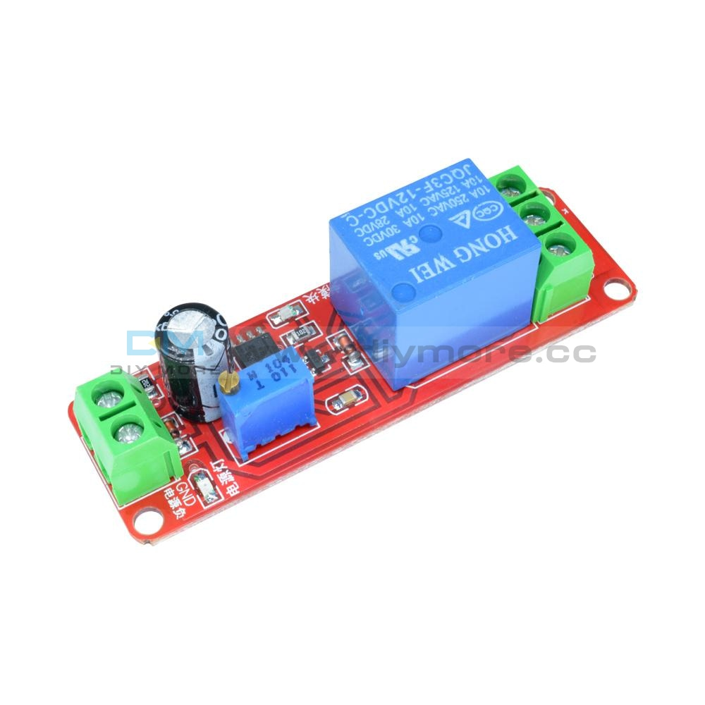 12V Delay Adjustable Relay Shield Ne555 Timer Switch Module 0 To10 Second Relay