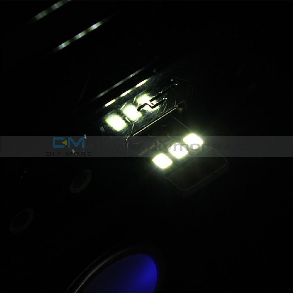 5Pcs Card Lamp Bulb Led Keychain Portable Usb Power White Mini Led Night Light Tools