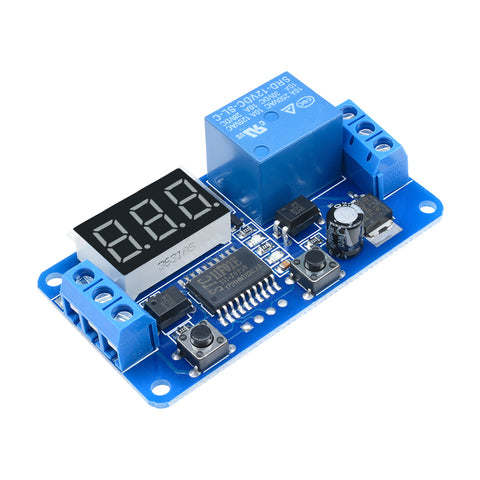 DC12V PLC Automation Digital Delay Relay Timer Control Switch LED Display Module