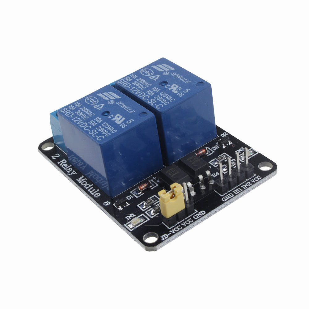 12V Two 2 Channel Relay Module With optocoupler For PIC AVR DSP ARM Arduino