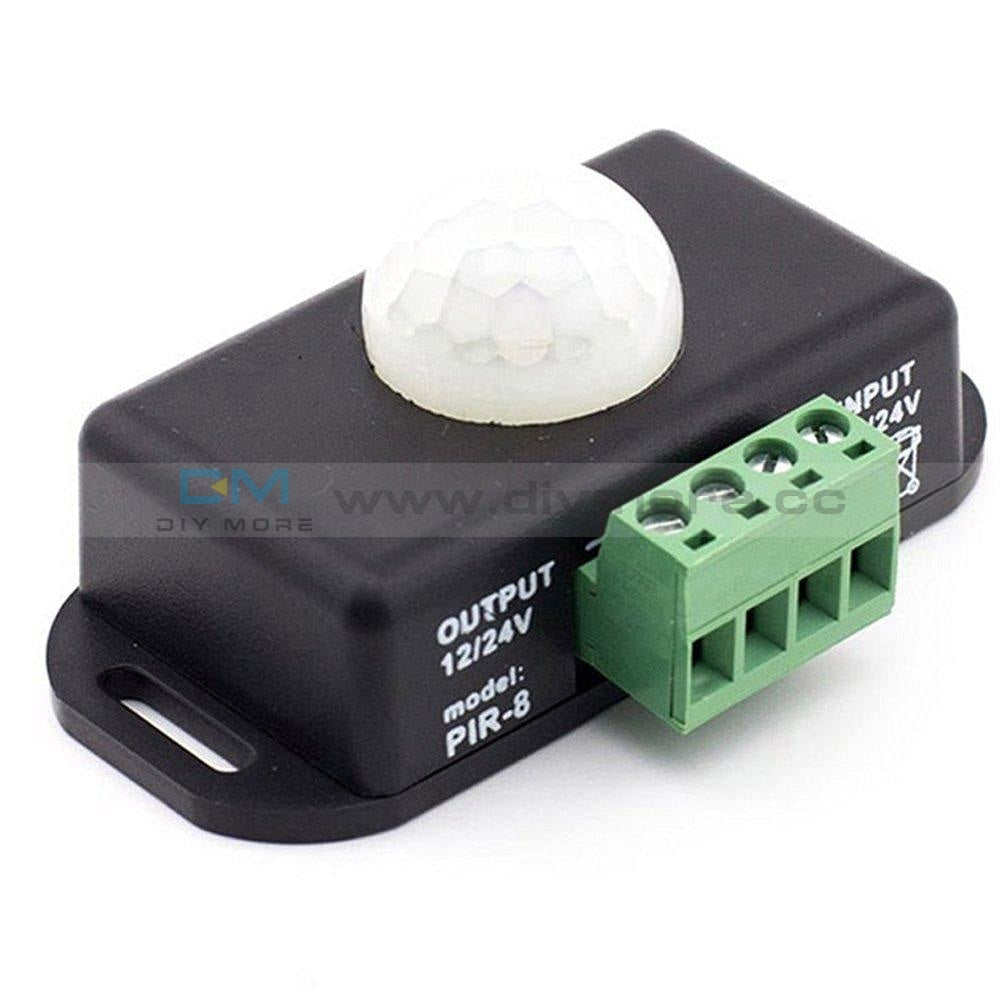 Automatic Dc 12V-24V 8A Infrared Pir Motion Sensor Switch For Led Light Stylish Module