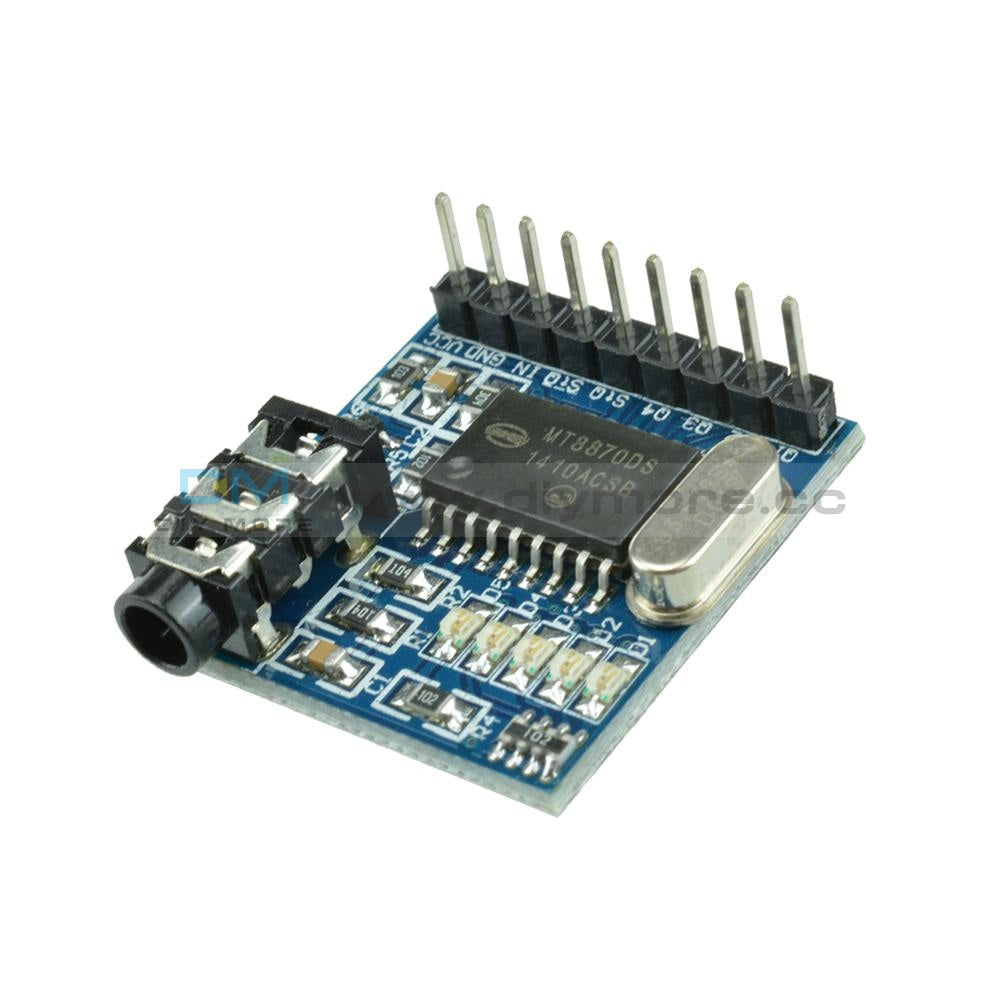 Mt8870 Dtmf Audio Voice Telephone Speech Decoder Board Module Led Indicators With Pins