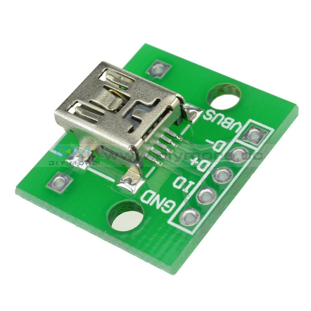 Mini Usb To Dip Adapter Converter For 2.54Mm Pcb Board Diy Power Supply Al Module