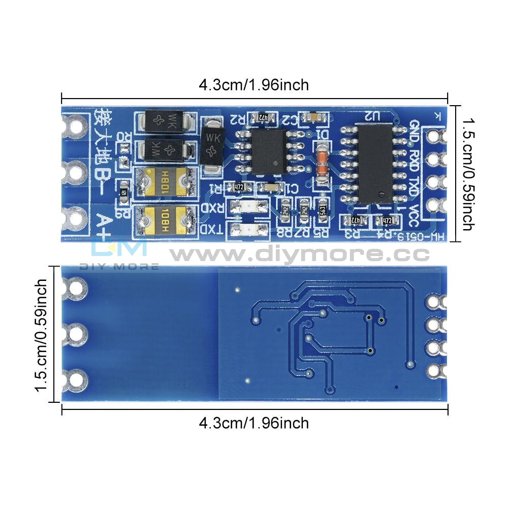 Stable Uart Serial Port To Rs485 Converter Function Module Ttl
