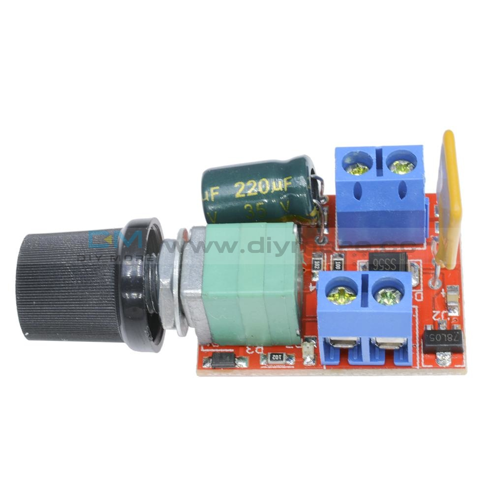 Mini Dc 5A Motor Pwm Speed Controller 3V-35V Control Switch Led Dimmer