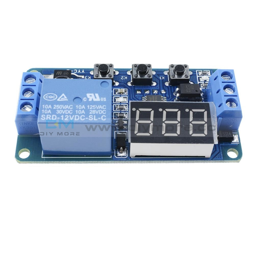 12V Led Automation Delay Timer Control Switch Relay Module Without Case