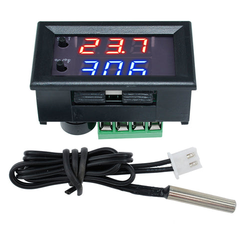 W1209WK 12V 220V LED Temperature Controller Thermometer Celsius/Fahrenheit Switch Module with NTC Sensor Probe