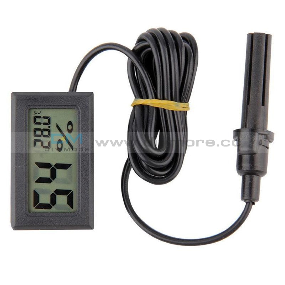 Lcd Digital Mini Embedded Thermometer Hygrometer Temperature Humidity Gauge Meter Probe For Reptile