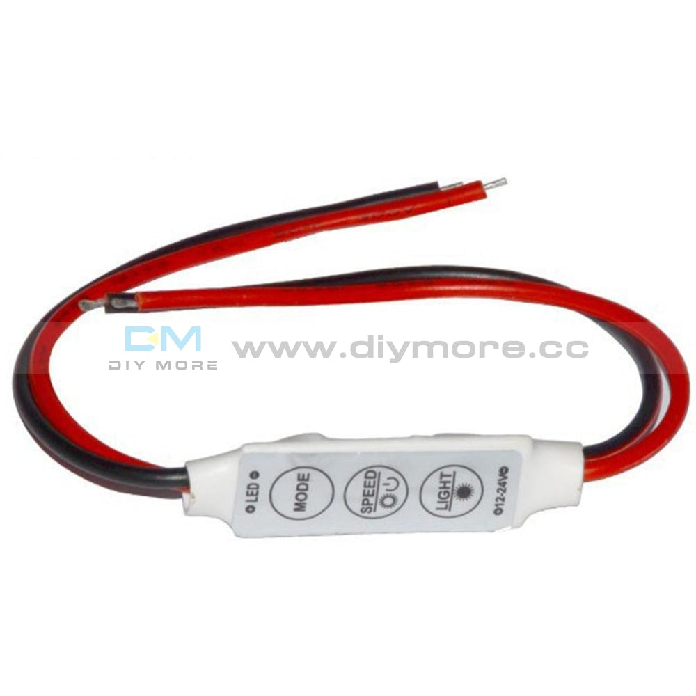 Mini 12V Led Strip Light Dimmer Controller With On Off Switch For 3528 5050 Rfid Module