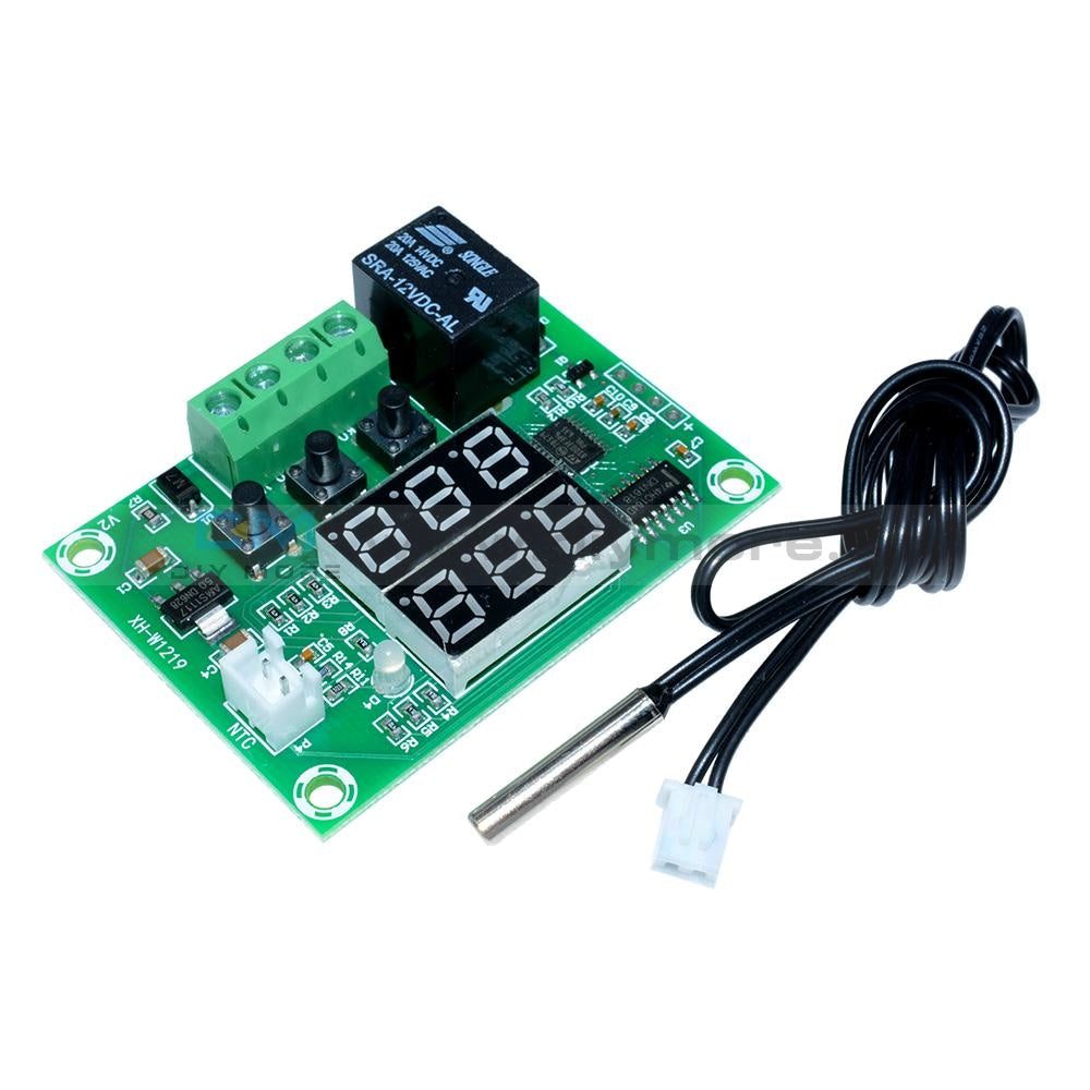 Dc 12V Digital Thermostat Temperature Control Switch Module Dual Led Multi-Function Cycle Timer