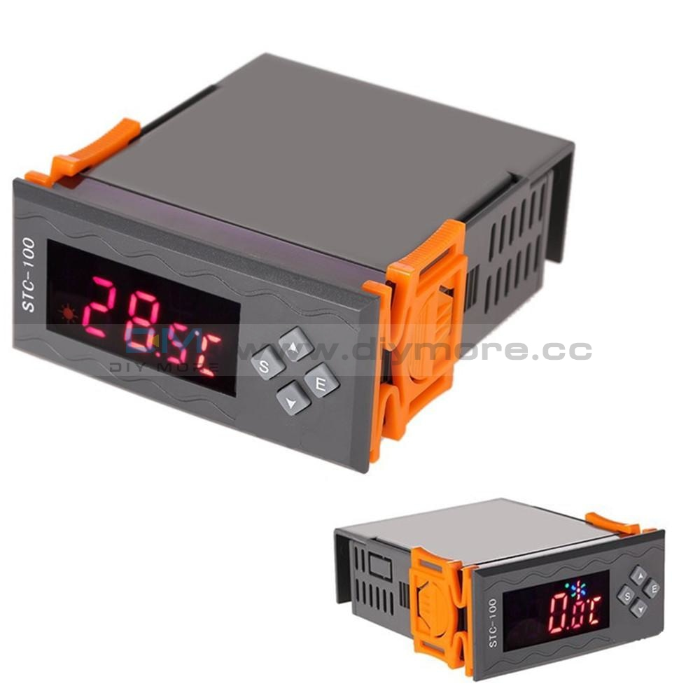 Stc-100 Dc 110V-240V Led Digital Display Temperature Controller Thermostat Regulator With Ntc