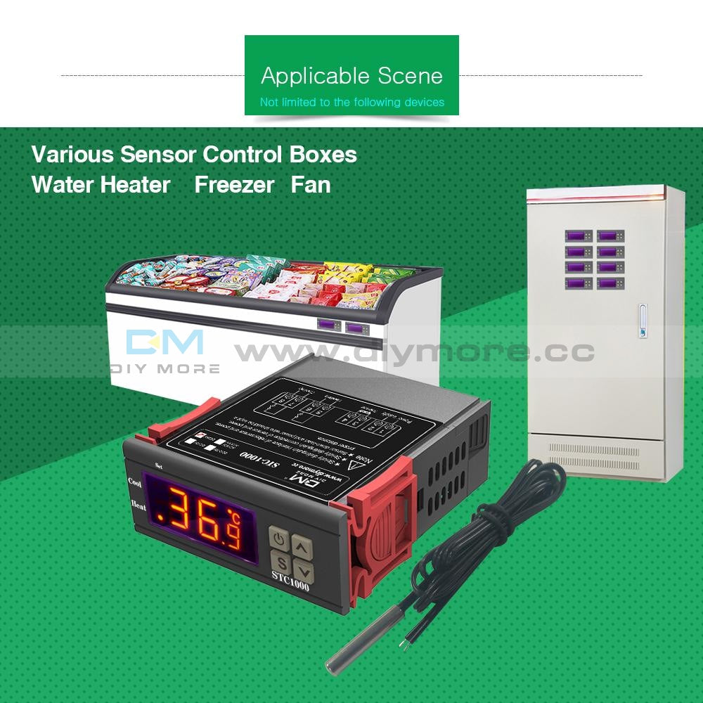 Stc-1000 All-Purpose Digital Temperature Control Controller Sensor Ac Dc 24V Thermostat