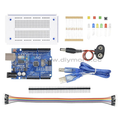 Arduino Uno R3 Starter Kit K Compatible Microcontroller Atmega328P Breadboard Motherboard