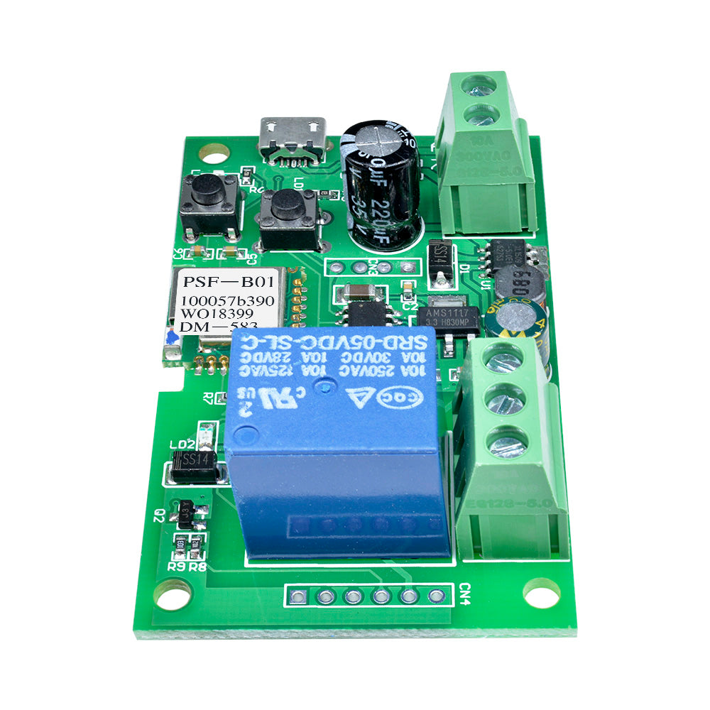 DC 5V 12V Jog Self lock Smart WiFi Wireless Switch Thet Relay Module APP Control Control Diy Electronic PCB Board