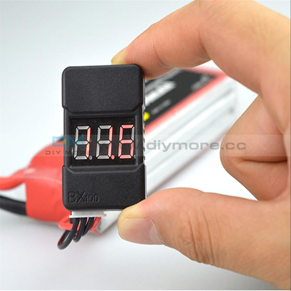Bx100 1-8S Lipo Battery Voltage Tester Low Buzzer Alarm Checker With Dual Speaks Testers