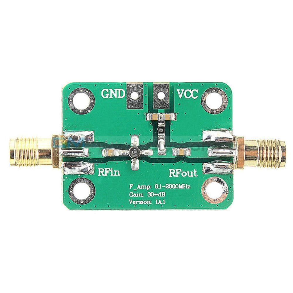 0.1-2000Mhz Rf Wideband Amplifier 30Db Low-Noise Lna Broadband Module Receiver New Diy Pcb Board