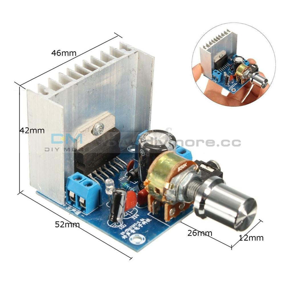 Ac/dc 12V Tda7297 2X15W Digital Audio Amplifier Diy Kit Dual-Channel Module Board