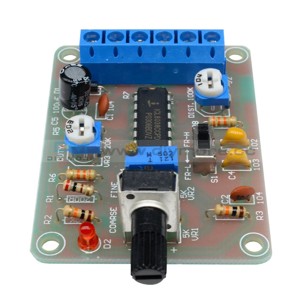 Icl8038 Monolithic Function Signal Generator Module Sine Square Triangle Welded Interface