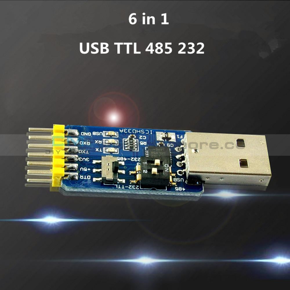 Cp2102 Usb To Ttl Rs232 Rs485 Mutual Convert 6 In 1 Module Sensor