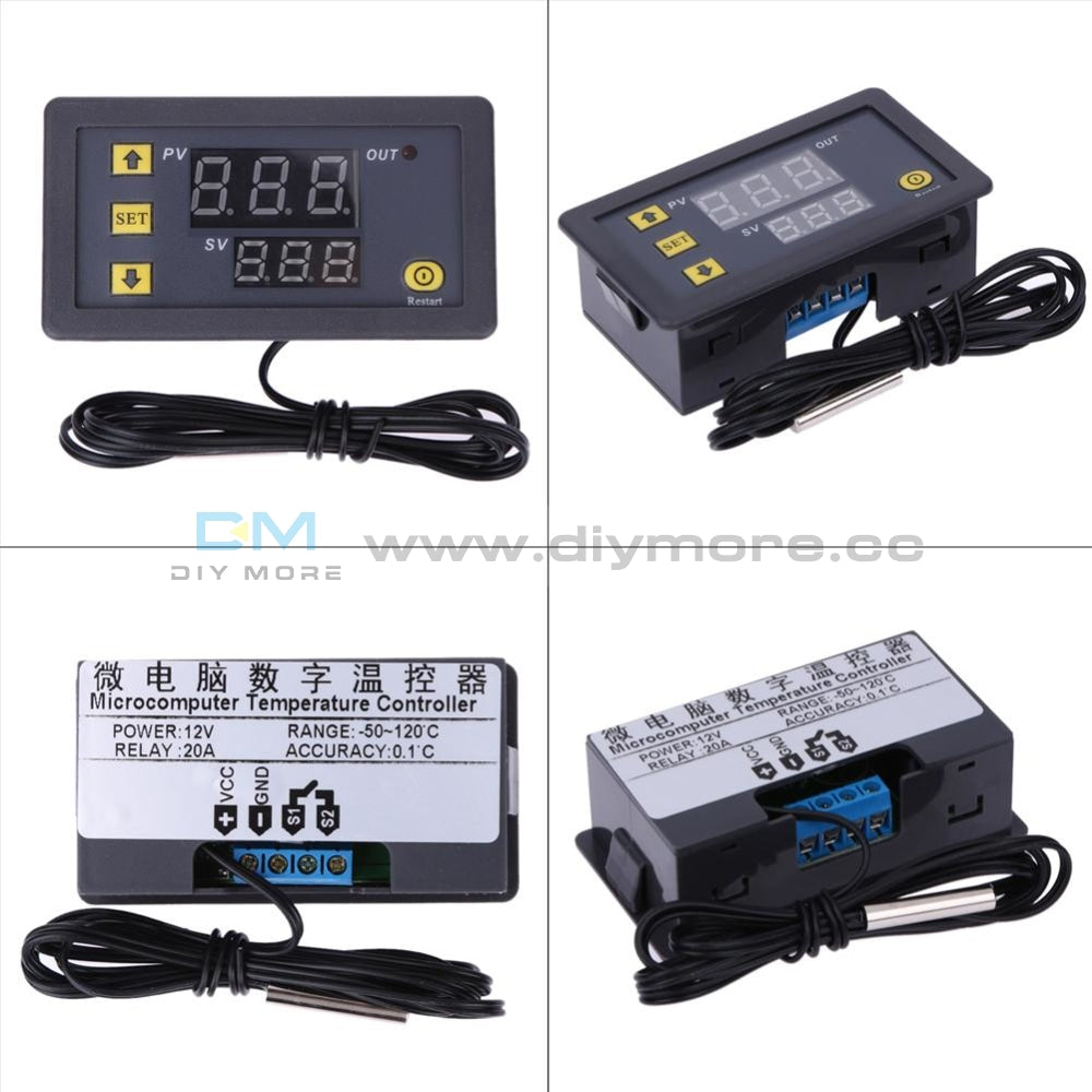 W3230 Lcd Dc 12V 20A Digital Thermostat Temperature Controller Meter Regulator