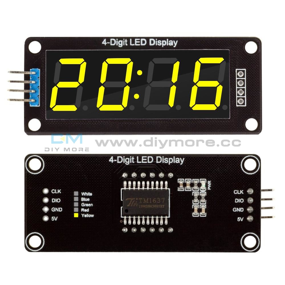 Tm1637 0.56 Led Display 7-Segment 4-Digit Clock Module Red/green/white/yellow/blue Colors Digital