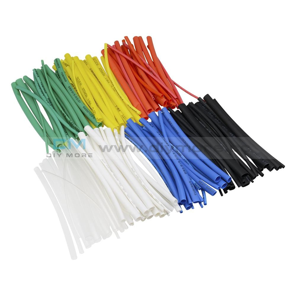 140Pcs Retardant 2:1 Polyolefin Heat Shrink Tubing Tube Kit Sleeve 5 Size 7Color Tools