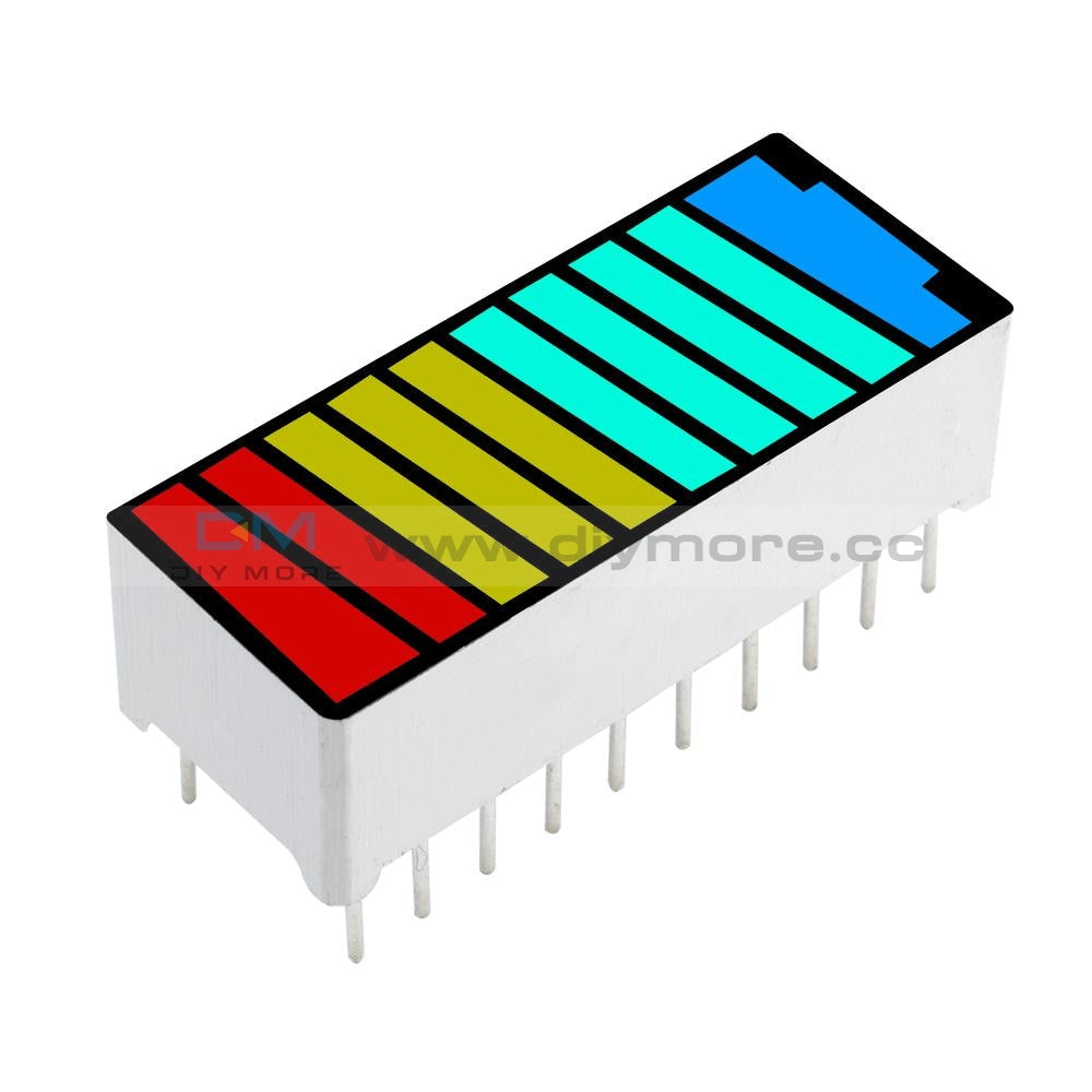 10 Segment 4 Colour Color Led Battery Bar Graph Light Display Indicator Dip Module