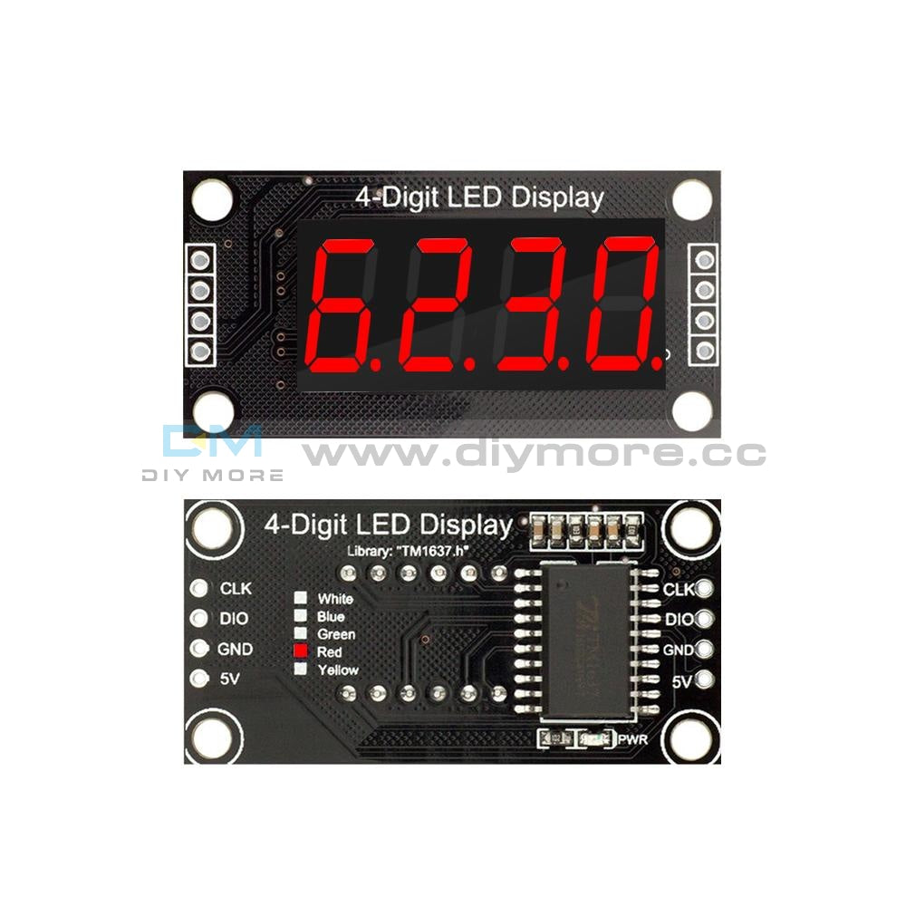 0.36 Inch Tm1637 4-Digit Tube Led Red/green/white/yellow/blue Color Digital Display Module For