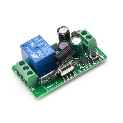 315MHZ 433MHz DC 12V 220V 10A 1CH 1 Way Ch Channel Wireless RF Remote Control Board Transmitter Receiver Relay Switch Module
