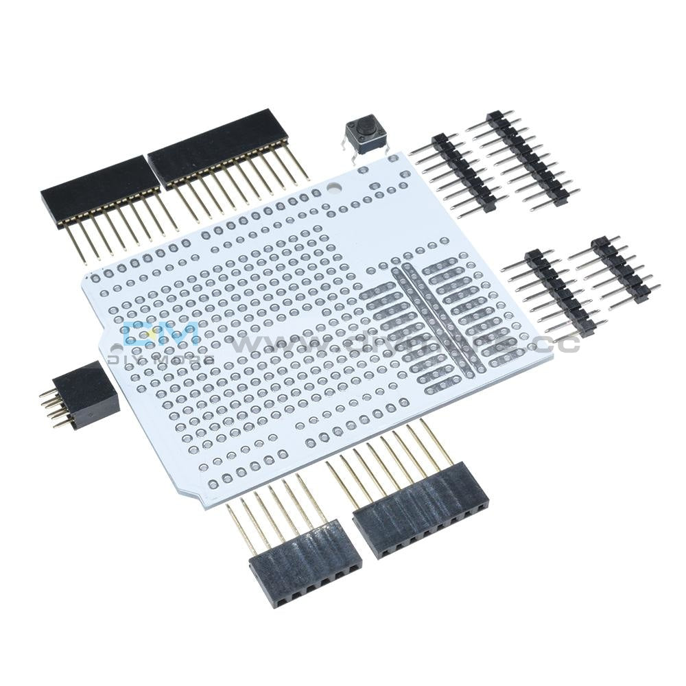 Prototyp Pcb Expansion Board For Arduino Uno R3 Shield Breadboard 2 Mm 54 Pitch With Pins Diy
