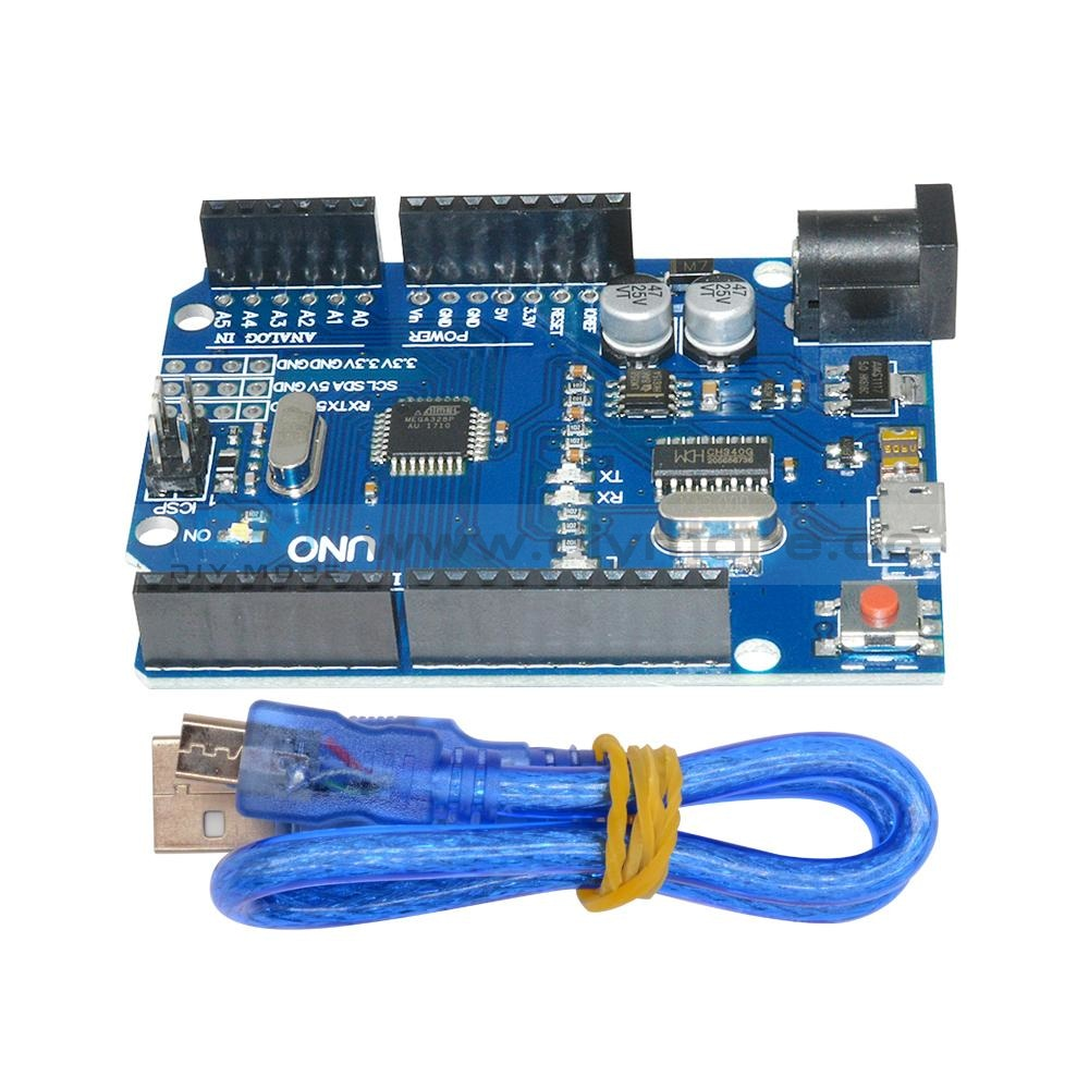 Uno R3 Latest Version Atmega328P-16Au Ch340G Micro Usb With Cable Motherboard