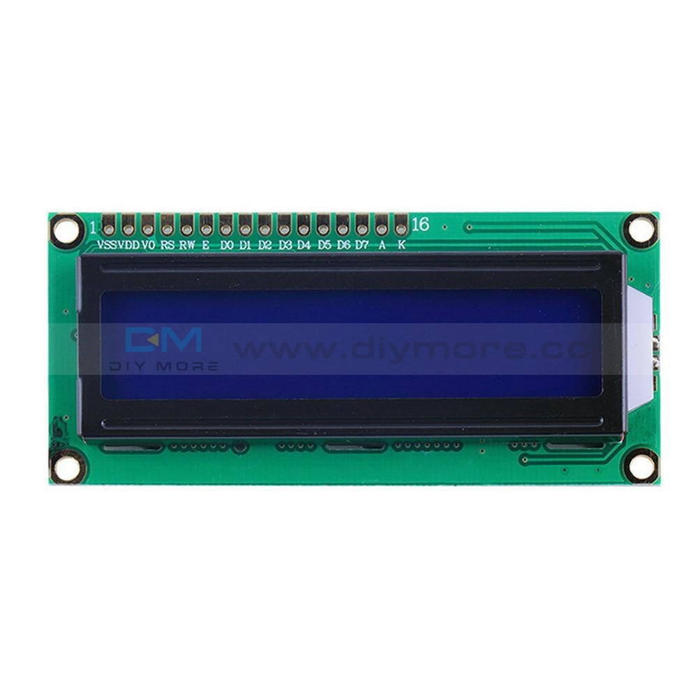 1602 16X2 Character Lcd Display Module Hd44780 Controller Yellow/blue Yellow