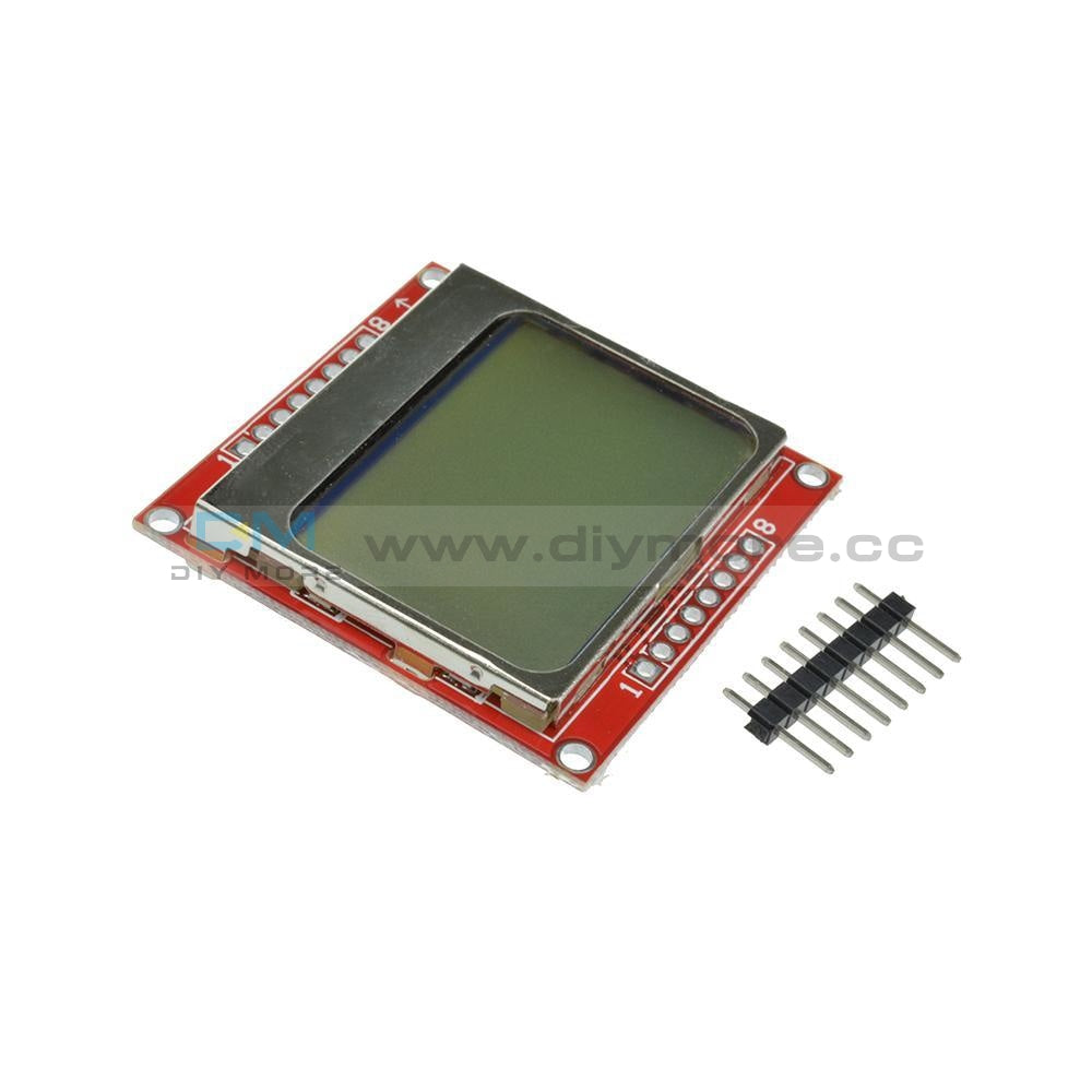 84*48 Lcd Module White/blue Backlight Adapter Pcb For Nokia 5110 Arduino Display