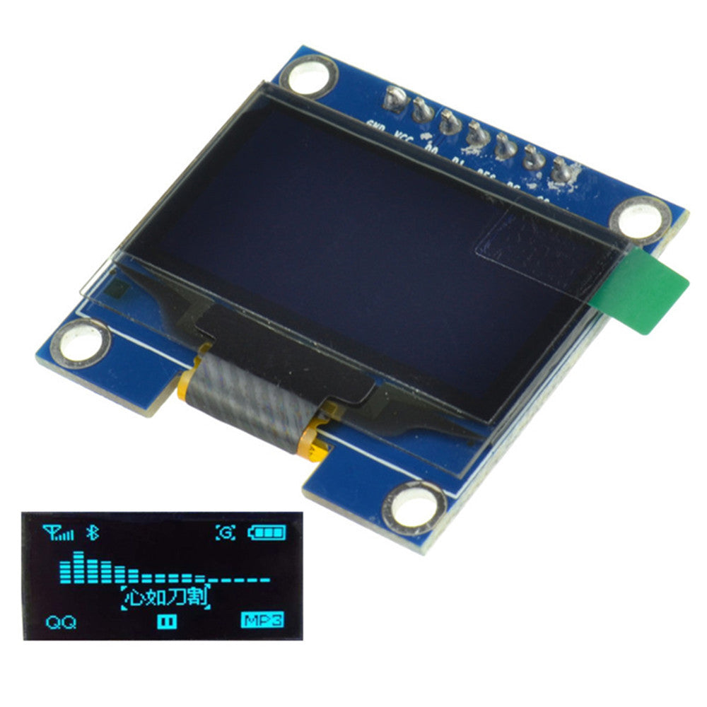 "1.3""Inch White SPI Serial OLED LCD Display 128X64 SSH1106 Module for Arduino UNO"
