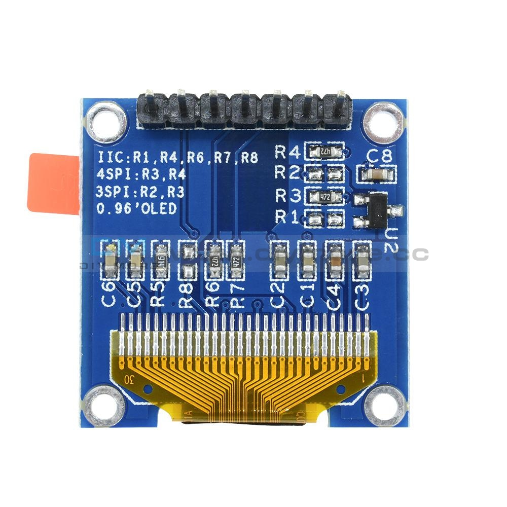 0.96 I2C Iic Spi Serial 128X64 Oled Lcd Display Ssd1306 For Arduino 51 Stm32 White/blue/blue+Yellow