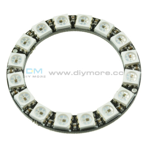 Rgb Led Ring 16Bit Ws2812 5050 + Integrated Drivers For Arduino Display Module