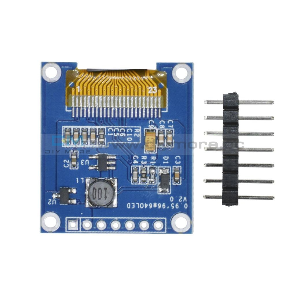 0.95 Inch 7-Pin Full Color 65K Ssd1331 96X64 Resolution Spi Oled Display Module For Arduino Led