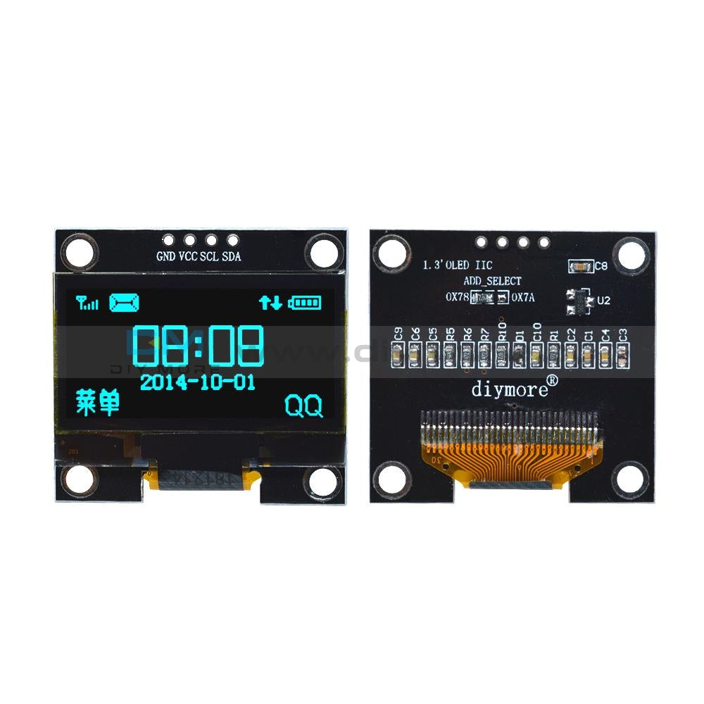 1.3 Inch Oled Lcd Display Module 4Pin Iic I2C Interface Ssh1106 128 64 128×64 For Arduino Raspberry